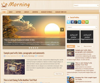 Morning Blogger Template