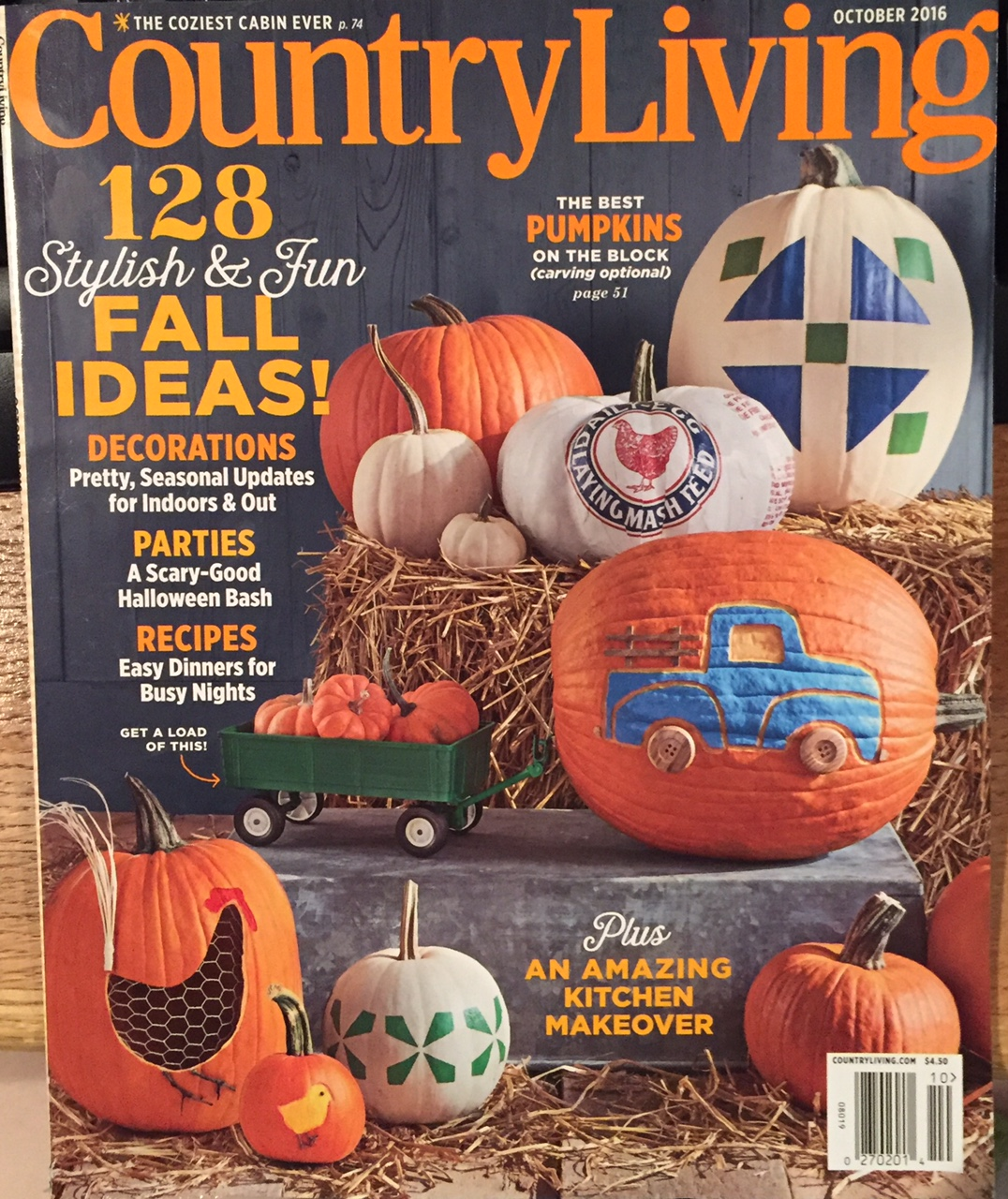 vintage halloween in october 2016 country living magazine - Halloween Magazines