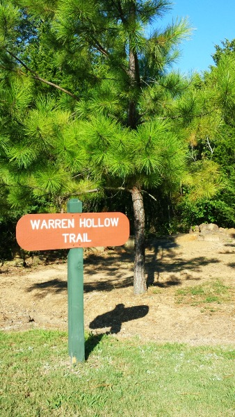 Warren Hollow Trail at Lake Fort Smith State Park