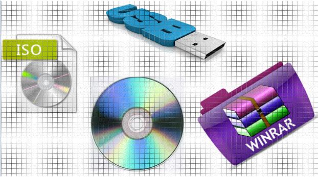 حرق نسخة ويندوز ايزو iso على الفلاشة باستخدام برنامج Winrar