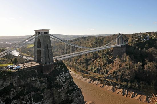Inghilterra Bristol Clifton Bridge