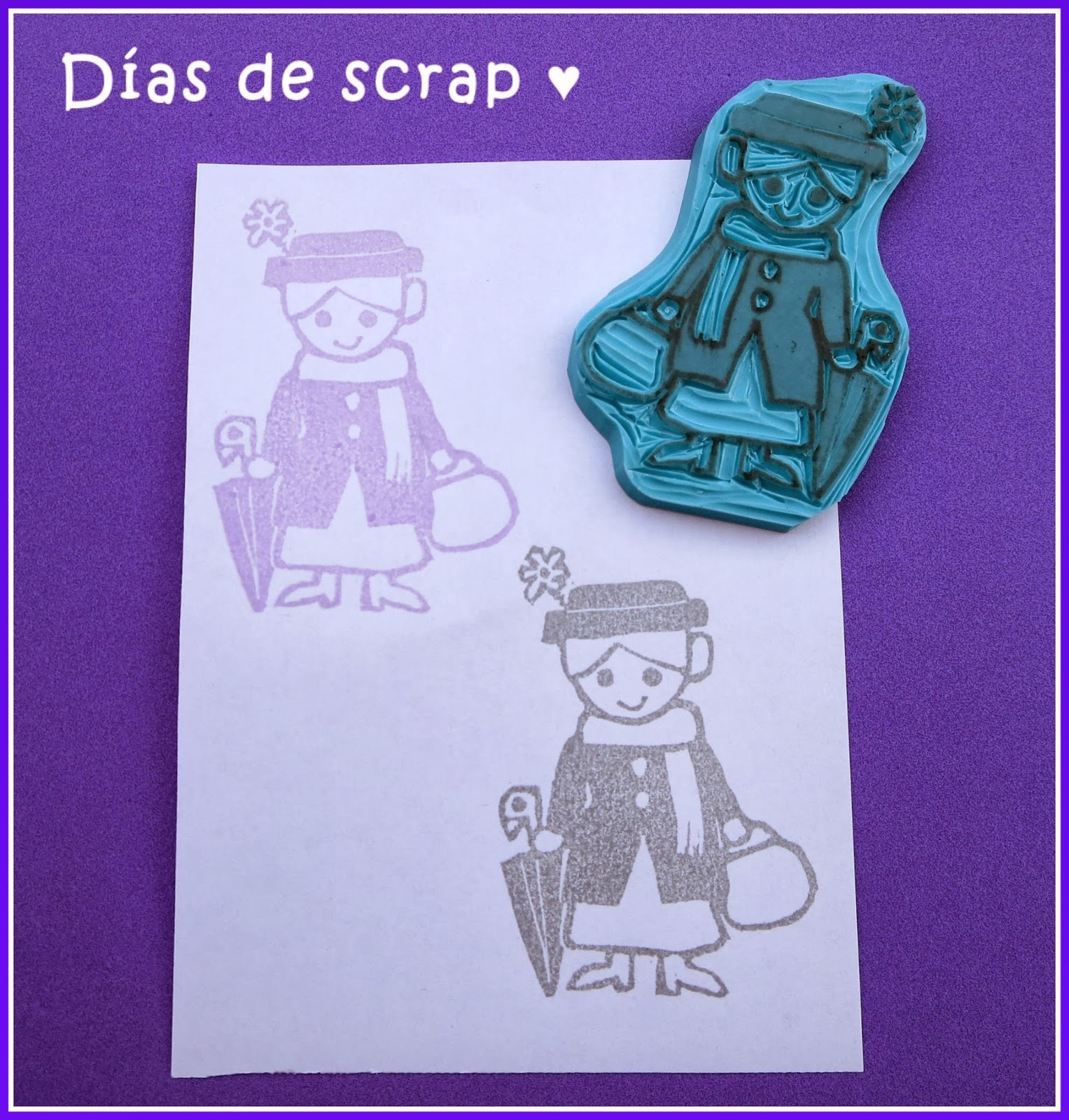 scrap sello handmade Mary Poppins stamps