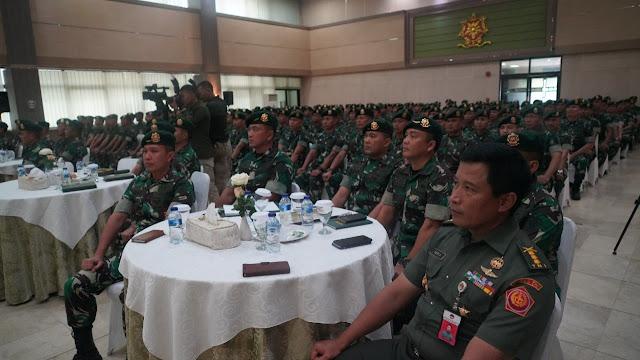 250 Perwira Kostrad Terima Pengarahan Menteri Pertahanan RI