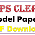 IBPS Clerk Model Papers Free Download PDF IBPS CLK 2017 Papers