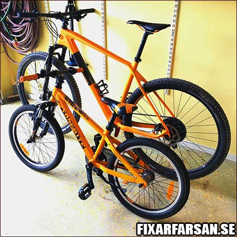 "Biltema X-Dirt 20"" + Orange Crescent Rask R20 29"""