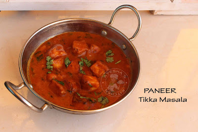 Paneer tikka masala paneer recipe indian cottage cheese no onion recipe veg side dish butter nan vegetaian perfect paneer tikka