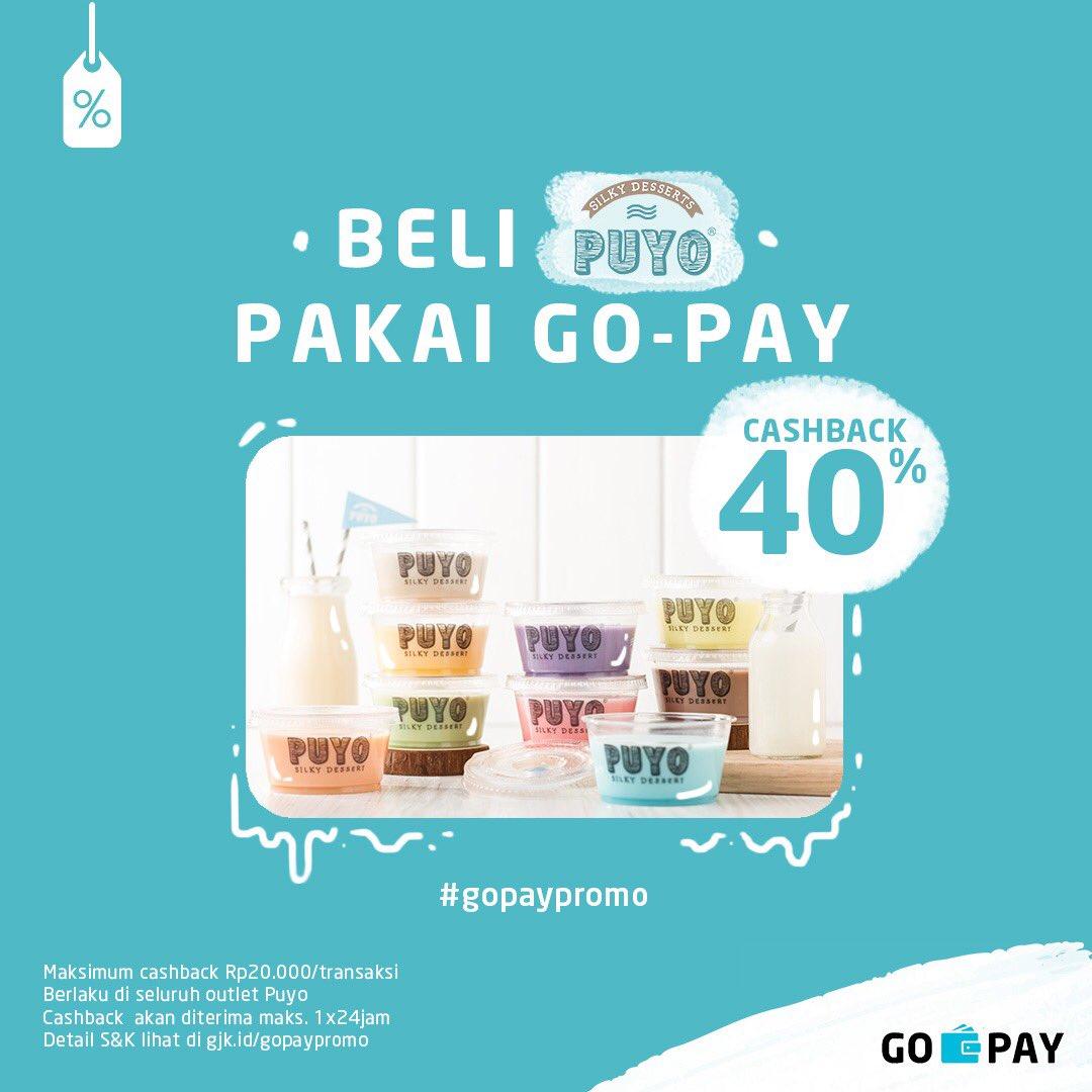 GOJek - Promo Cashback 40% Beli PUYO Pakai GO-PAY (s.d 30 Sept 2018)