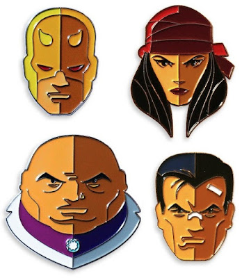 Daredevil Portrait Enamel Pin Series by Tom Whalen & Mondo - Daredevil, Elektra, The Kingpin & The Punisher