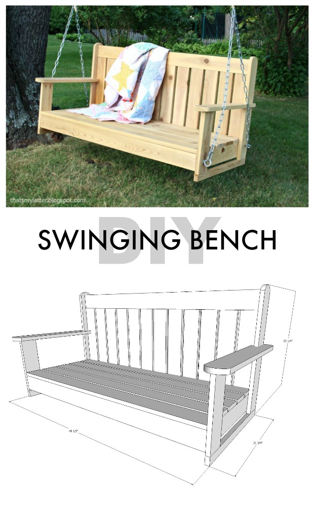 Plans for swinging bench