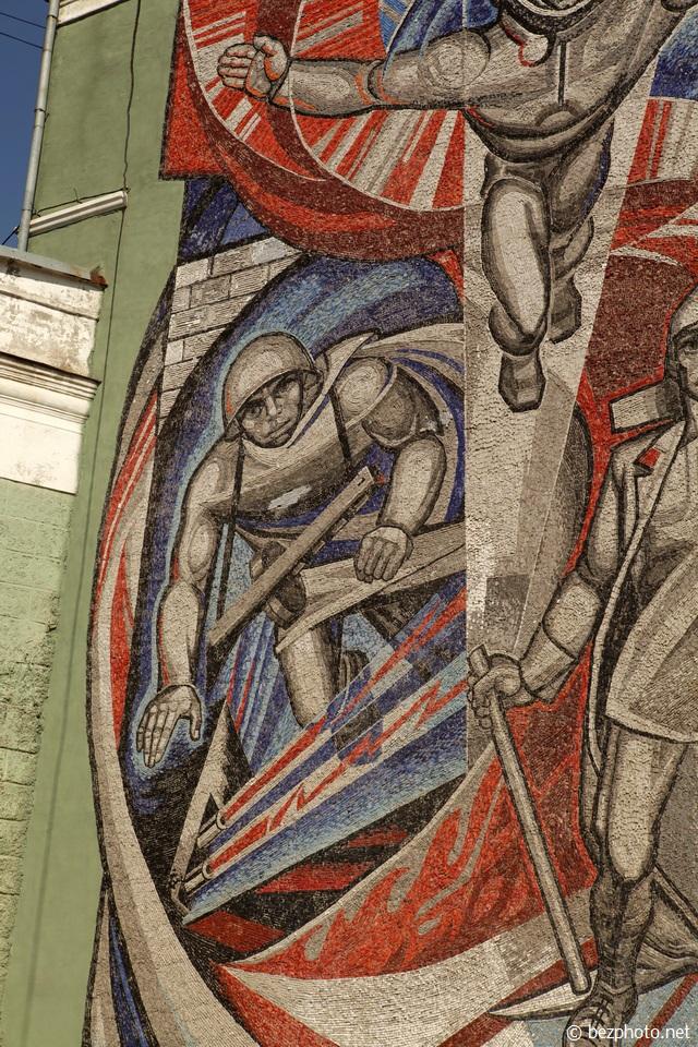 советские мозаики на зданиях пермь