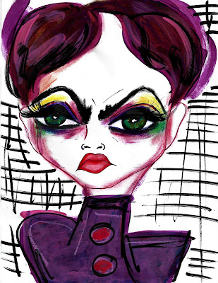 Bebee Pino purple and red illustration