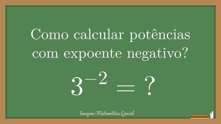 Como calcular potências com expoente negativo?