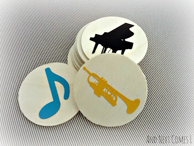 Learn about music with this simple homemade music matching game for kids from And Next Comes L