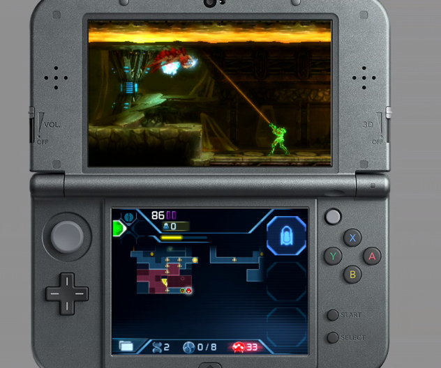 Metroid Samus Returns free aim 360 degrees line of sight Nintendo 3DS sidescroller