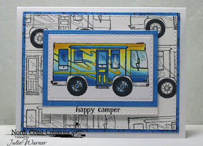 North Coast Creations Stamp Set: Camper Sweet Camper, Our Daily Bread Designs Custom Dies: Double Stitched Rectangles, Rectangles
