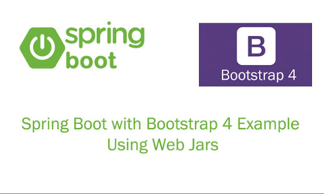Spring Boot with Bootstrap Example using Web Jars