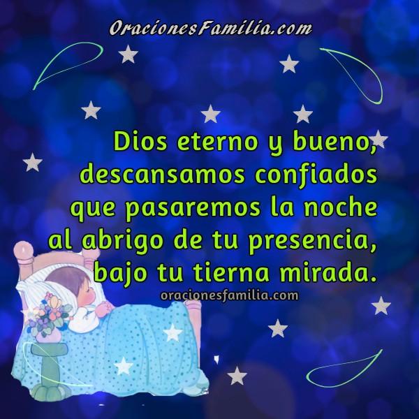 Oración corta para los niños en la noche, frases de oraciones para niños al dormir y dar buenas noches por Mery Bracho.