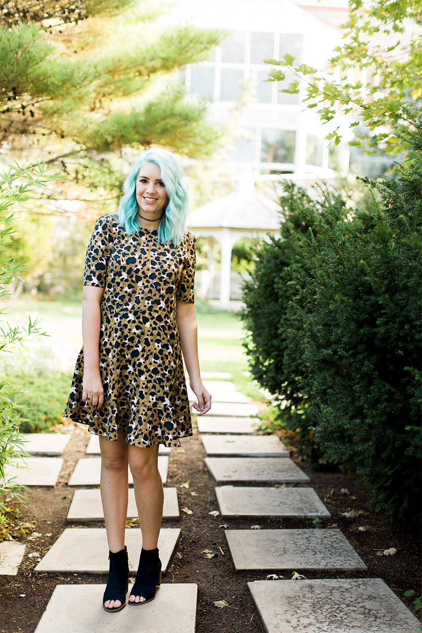 Leopard Dress, Utah Fashion Blogger, Modest