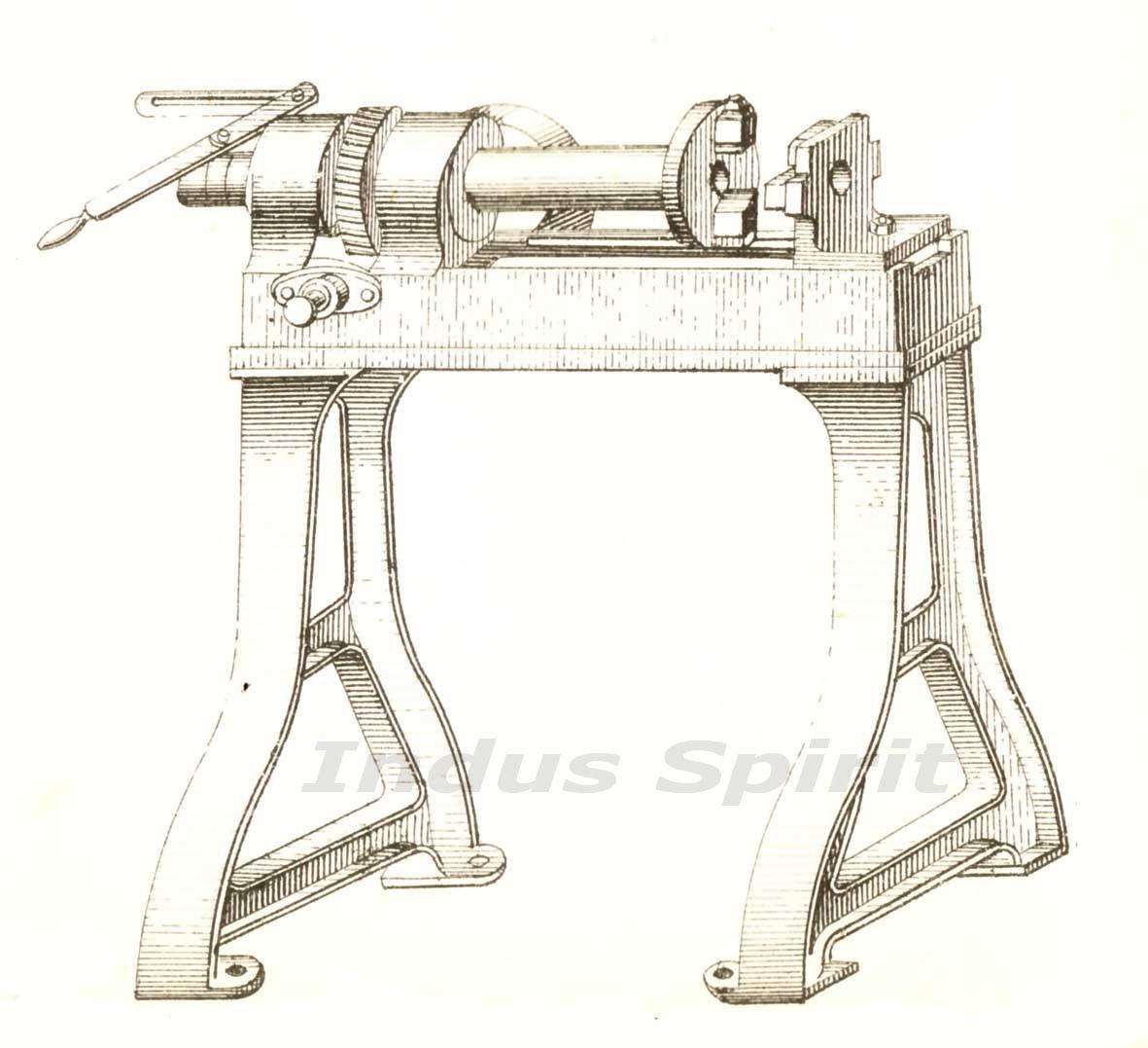 Ancienne machine pour la fabrication de boulons