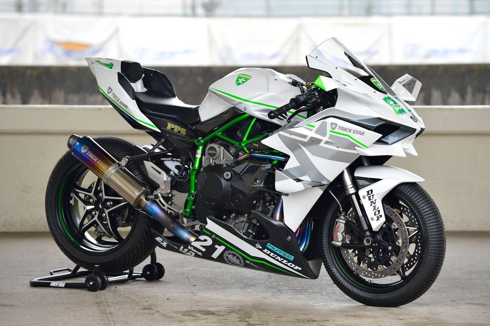 Auto Racing Helmets >> Planet Japan Blog: Kawasaki Ninja H2R by Trickstar