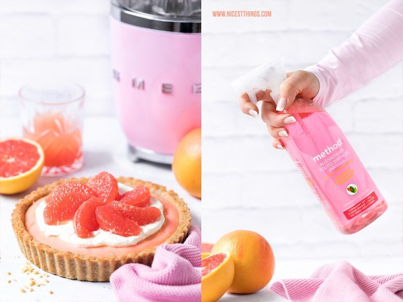 SMEG Zitruspresse Cadillac Pink und method Reiniger Grapefruit