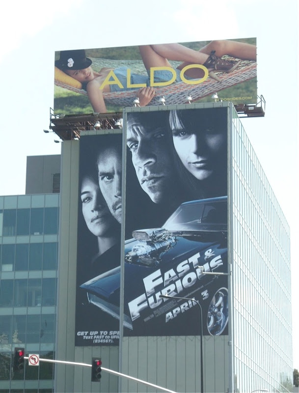 Giant Fast & Furious movie billboard