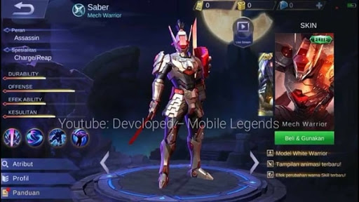 New Saber Skin – Full Metal Ronin