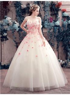 Alt+Charming Sweetheart Little Flowers Lace-Up Ball Gown Wedding Dress (11341877)