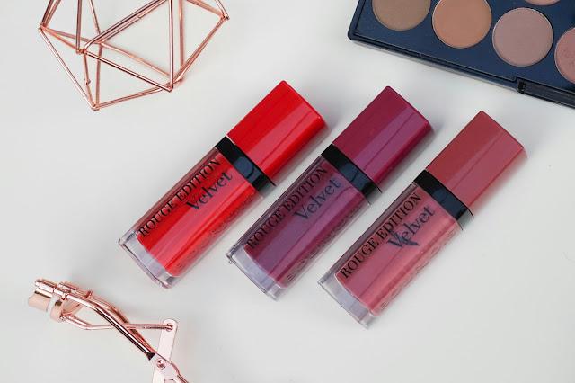Bourjois Rouge Edition Velvet Lipsticks Review www.eyelinerflicks.com blog