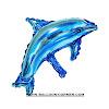 Balon Foil Dolphin Mini Warna Biru & Pink