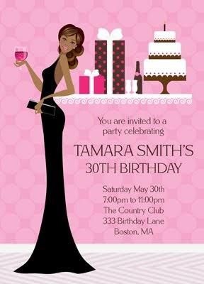 Bunny Prints Diva Birthday Party Invitations