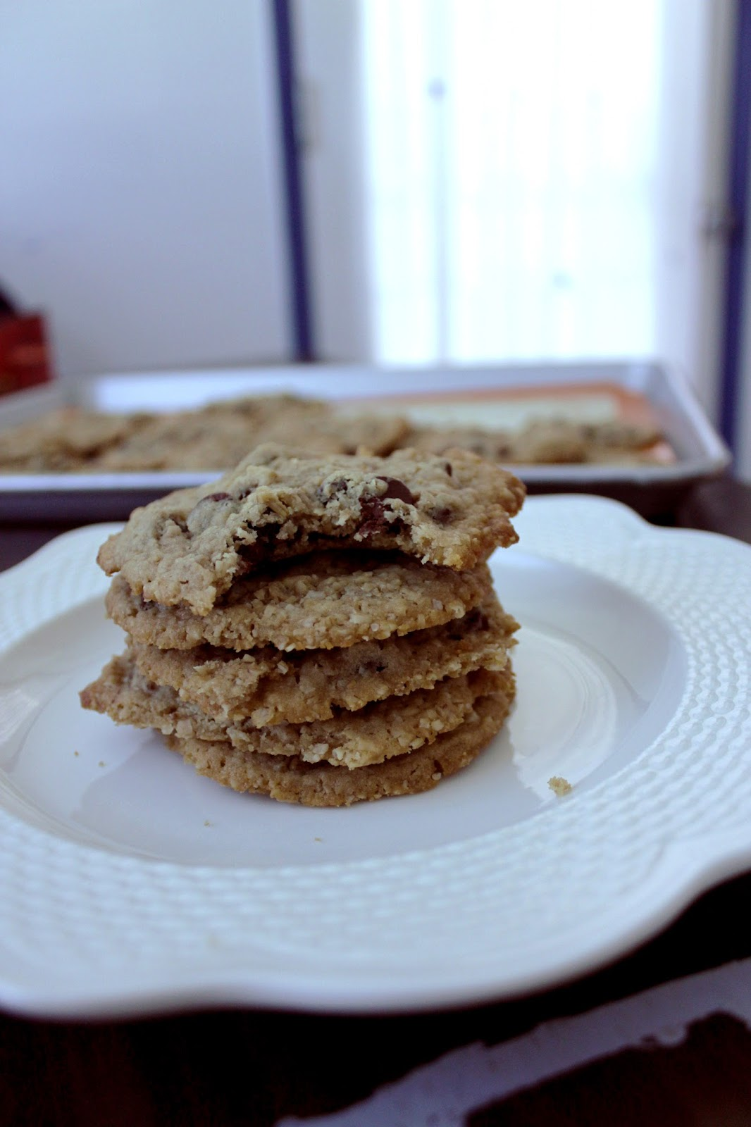 Egg-Less Oatmeal Chocolate Chip Cookies by freshfromthe.com