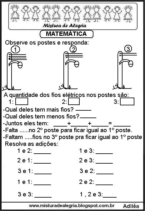 Atividades De Matemática Ensino Fundamental I Para Imprimir