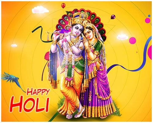 Krishna Radha Holi Image