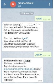 Cara Memperoleh ID Telegram untuk Diinput ke BIOUN