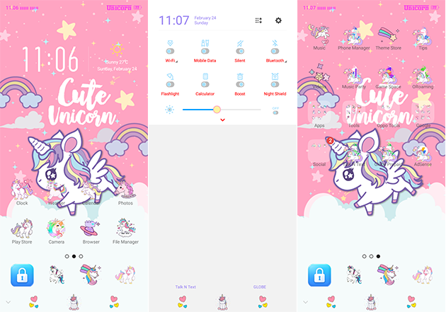 Oppo Theme: Oppo A3s Unicorn Theme