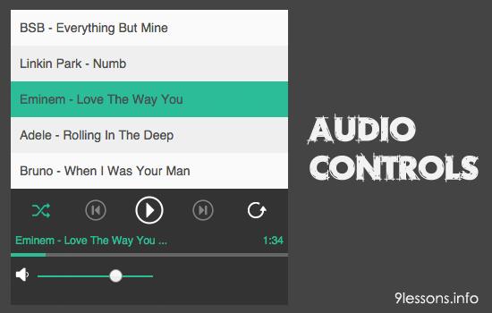 jQuery Audio Player ទាំង៥ សម្រាប់បង្កើត