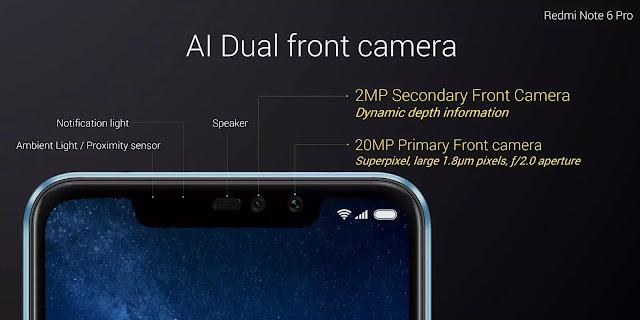 Redmi Note 6 Pro notch details