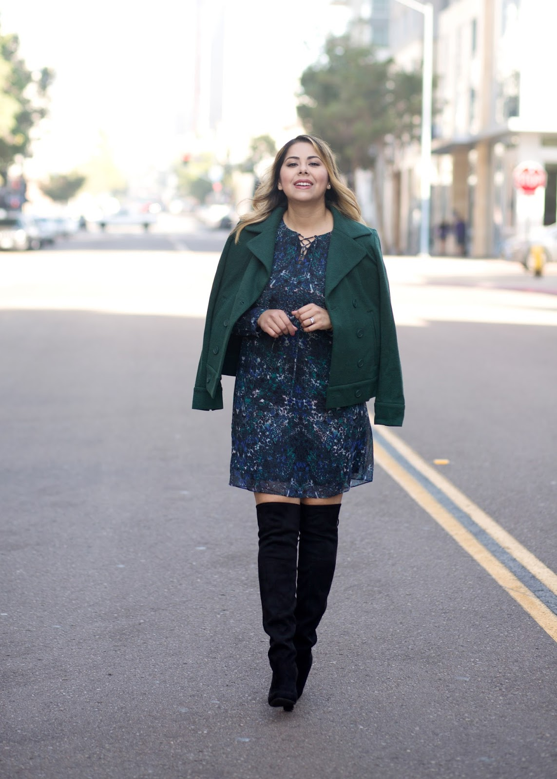 so cal fashion blogger, how to wear green this fall, emerald green outfit, chic fall outfit