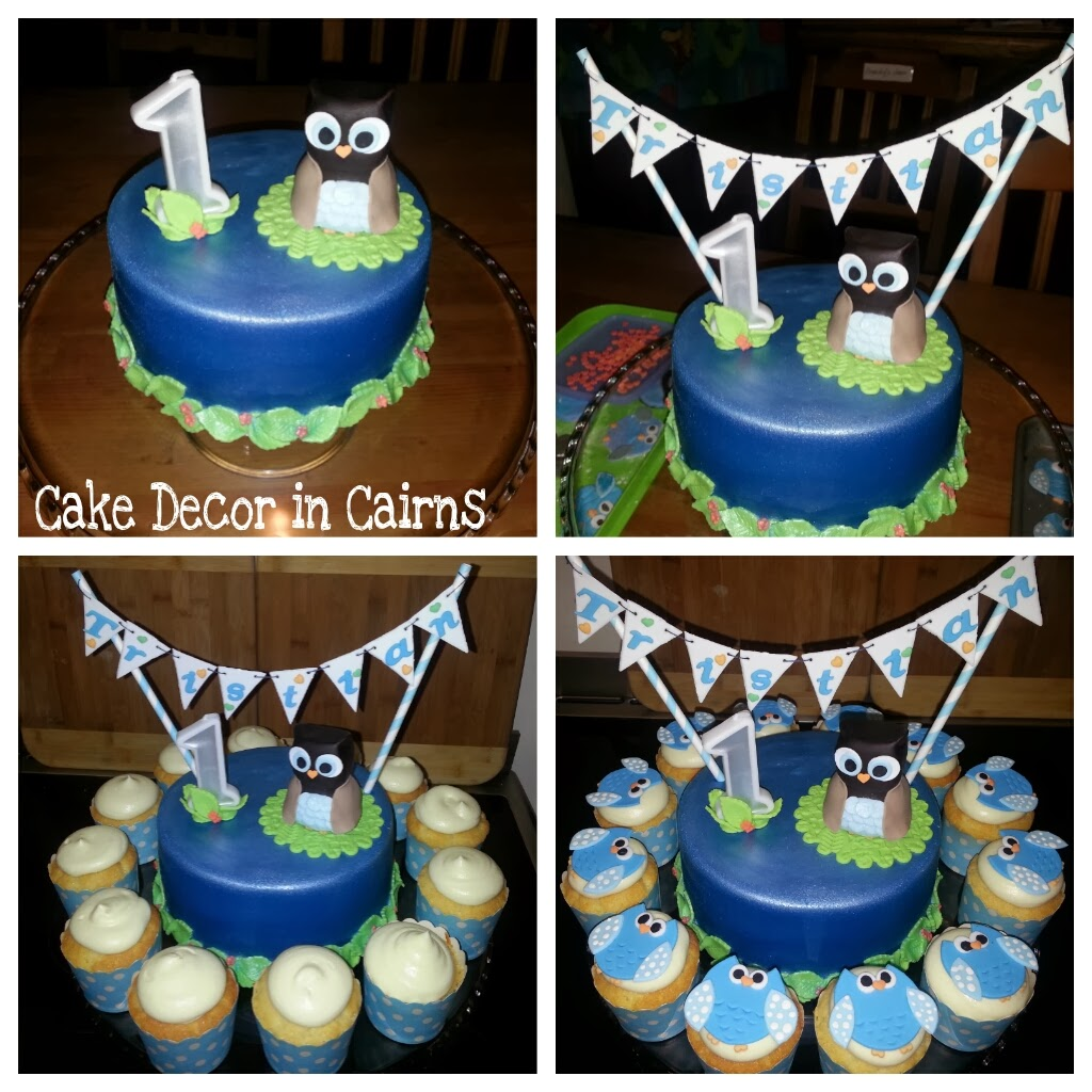 Brilliant Owl Themed Cake Part 1 With Edible Bunting Funny Birthday Cards Online Aeocydamsfinfo