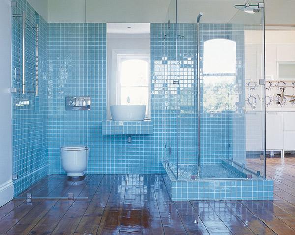 Modern bathroom designs - Blue bathroom tile ideas ...