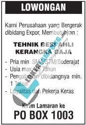 Karir  Lampung Terbaru Dari Perusahan Expor September 2016