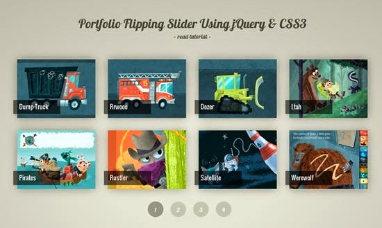 Portfolio Flipping Slider Using  jQuery & CSS3