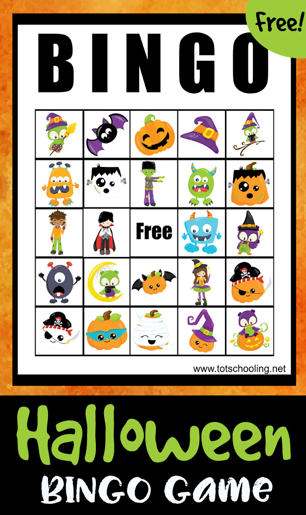 photograph about Printable Halloween Bingo titled Halloween BINGO Video game Totschooling - Newborn, Preschool