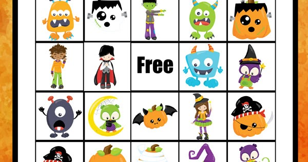 picture about Free Halloween Bingo Printable titled Halloween BINGO Recreation Totschooling - Child, Preschool