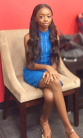 22ccd79f8d HAIRSTYLESDOTCOM  skai Jackson pretty in center part bra length weave