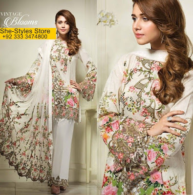 Anaya Eid Luxury  Lawn Collection 2017-18 Catalog