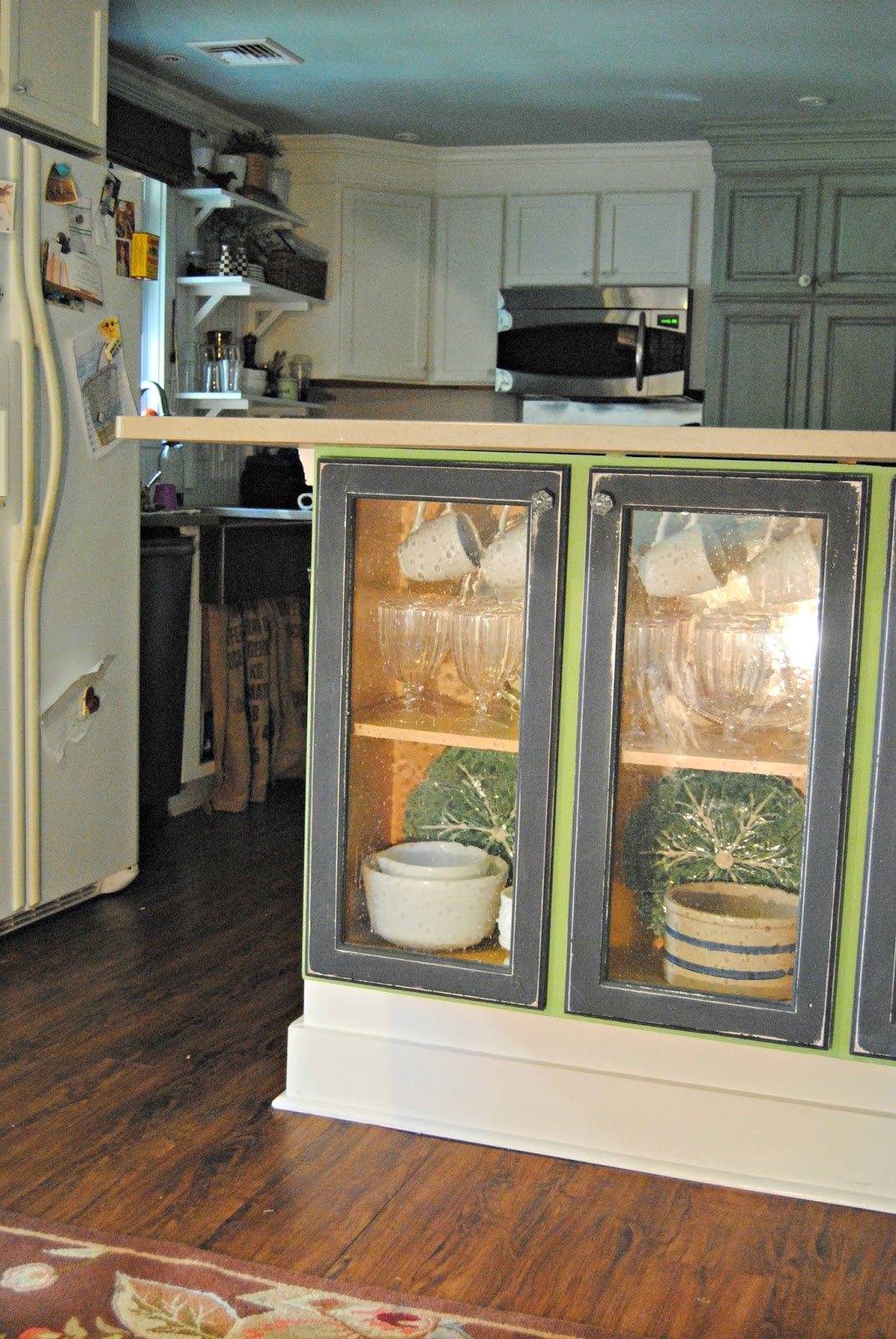 adding shelves to kitchen cabinets table round glass doors my the