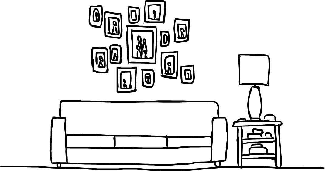 PWNED Concept Art: Tommy's living room wall