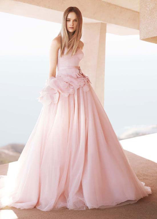 Pink Symbolizes The Femininity And Pretty It Is An Innocent Sweet Soft Color Some Designers Use Into Their Wedding Dresses